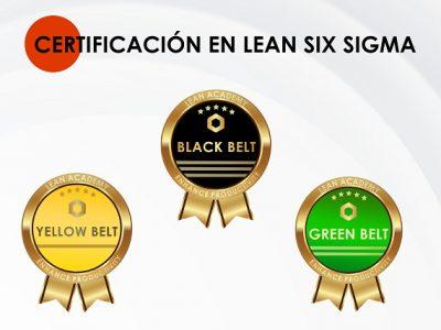 Certificación Internacional Lean Six Sigma (Yellow, Green y Black Belt)