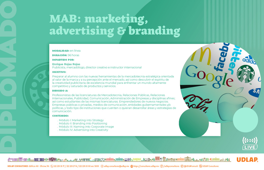Diplomado en Marketing, Advertising and Branding